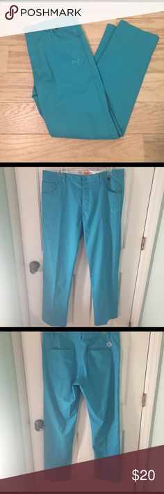 Puma Performance Golf Pants Aqua Blue excellent condition, like new, hardly used. w34 L32 Puma Pants Sweatpants & Joggers