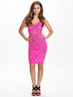 81b7d72b3b08 Studded Bodycon Dress - Lipsy - Pink - Festkjoler - Tøj - Kvinde - Nelly.com