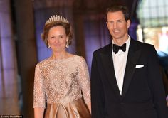 Small but very, very rich: The Princess of Liechtenstein and husband Alois (pictured at the Queen's Dinner at the Rijksmuseum in Amsterdam in April 2013) are part of one of the world's wealthiest royal families