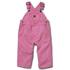 Carhartt Kids Infant Girl's Pink Canvas Overall