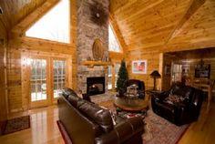 """Blarney Stone Manor"" Deep Creek Lake vacation rental   Main level great room with gas fireplace"