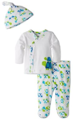 Offspring - Baby Apparel Baby-boys Newborn Turtle 3 Piece TMH Set:Amazon:Clothing