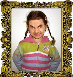 Mister bean when he was a little girl Funny Faces Images, Funny Pictures, Stupid Memes, Funny Memes, Hilarious, Mr Bean Photoshop, Mr Bin, Mr Bean Funny, Rowan