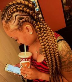 The number styles you can create with cornrows are limitless! Read on our cornrows guide with conrow hairstyles inspiration and different looks you can create. Box Braids Hairstyles, My Hairstyle, African Hairstyles, Hairstyle Ideas, Cornrows Updo, Braided Ponytail, Long Cornrows, Weave Cornrows, Trenzas Ghana