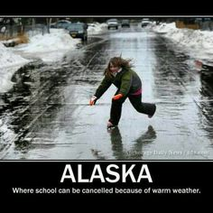 Anchorage Alaska. yes! the streets are really like that. by law, spike tires are mandatory!