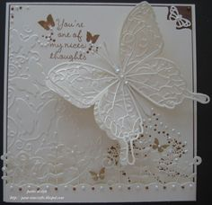 Oyster Stamps Gallery:  Love this butterfly card.