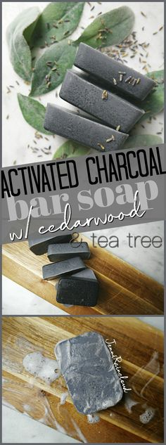 DIY Activated Charcoal Bar Soap This DIY activated carbon soap can be used both on the face and on the body and is ideal for detoxifying the skin. Homemade Scrub, Homemade Soap Recipes, Diy Peeling, Charcoal Bar, Charcoal Face Soap, Activated Charcoal Soap, Perfume Fahrenheit, Perfume Invictus, Soap Making Supplies