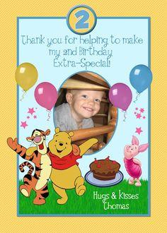 Winnie The Pooh Photo Birthday Invitations