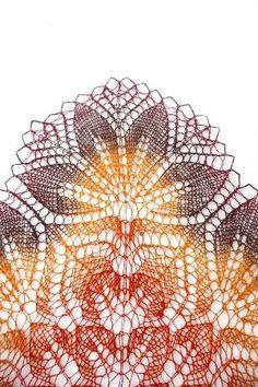 Hand knit shawl ... pretty amazing