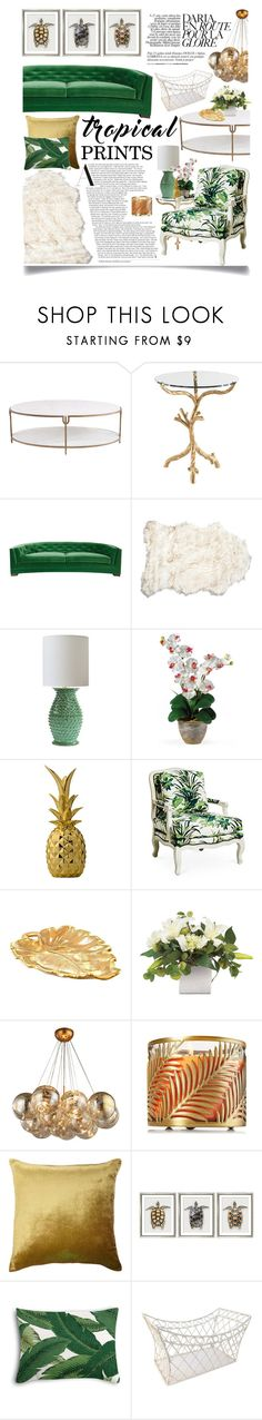 """""""Tropical Prints"""" by ittie-kittie ❤ liked on Polyvore featuring interior, interiors, interior design, home, home decor, interior decorating, Global Views, Bernhardt, Bloomingville and Kevin O'Brien"""