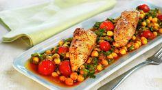 Kyllingform med kikerter og tomat - Sunn - Oppskrifter - MatPrat