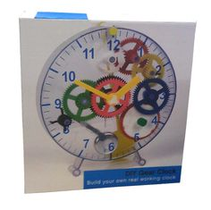 Build Your Own Wind-up Toy Clock - DIY Gear Clock - GREAT GIFT FOR TECHNO KIDS! | eBay