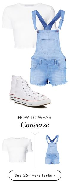"""""""Untitled #386"""" by lullabycake on Polyvore featuring Rosetta Getty, Boohoo and Converse"""