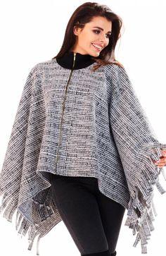 cc413b0d12 Awama A192 poncho strukturalne - Swetry damskie - Ciepłe swetry damskie -  Awama ubrania damskie - Sklep z ubraniami
