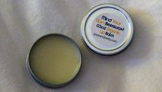 DIY lip balm with:     2 0.5 oz tins       2 tablespoons grated beeswax or beeswax pastilles       3 tablespoons coconut, castor, sunflower, or jojoba oil       2 teaspoons vitamin E oil (optional, but I recommend it for its super-moisturizing properties)