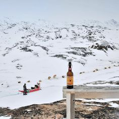 Ready to hit the road again! Dogs are all lined up bags packed @struisebreweries beer tried and tested with our Greenlandic new friend and dressed for the -22C outside! #travel #Greenland #arctic #adventure #traveldeeper