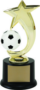 Achievement Shooting Star Spinning Soccer Trophy Award