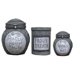 Nightmare Before Christmas Ceramic Storage Jars set of 3 - these would be cute in your kitchen!
