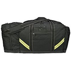 Lightning X Firefighter Premium 3XL Step-In Turnout Gear Bag - Black w/ NO LOGO (Customizable)