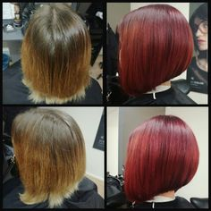 #red #redcolor #haircolor # haircut #punainen #leikkaus #a-linja #a #kcprofessional #ultimate