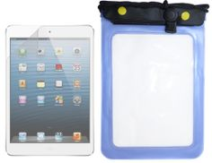 iPad Mini Waterproof Case designed for the iPad mini but can fit any tablet PC that needs protection and fits in this case (see dimensions). Screen protector also included.