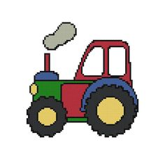 Tractor Cross Stitch Pattern  Digital File  by threadsandthings1, $3.00