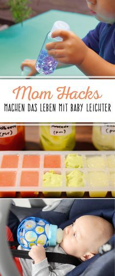 Mom Hacks: Tips for all life situations- Mom Hacks: Tipps für alle Lebenslagen No bib ready? Do not feel like getting the same jar food? But would you like to save money and become creative yourself? We have clever solutions for baby parents - Kids And Parenting, Parenting Hacks, Parenting Quotes, Mama Hacks, Baby Life Hacks, Baby Feeding Schedule, Diy Bebe, Baby Co, Baby Baby