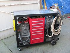 Welding cart: TIG, MIG oxy/acetylene, tool box, Tig cooler, onboard load center. - WeldingWeb™ - Welding forum for pros and enthusiasts