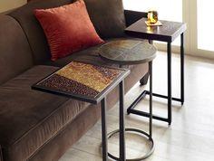 Pier 1 Atalia C-Table, Bosley C-Table and Wood Top Espresso C-Table