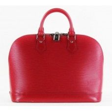 #Louis #Vuitton Red Carmine Epi Leather Alma PM Bag