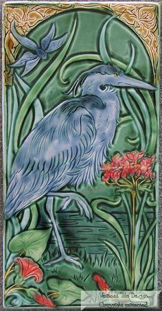 Great Blue Heron Art Tile