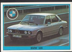 Panini Super Auto 1977 Sticker - No 64 - Vintage Car - BMW 528 | eBay