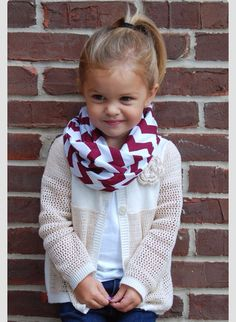 Winter and fall outfit for girls. With an orange scarf it would be perfect.