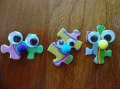 puzzle piece face- cute! I remember how much fun Girl Scouts was!!!!