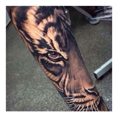 This is my next tattoo. Finishing my half sleeve #tattoo #tiger... ❤ liked on Polyvore featuring accessories and body art