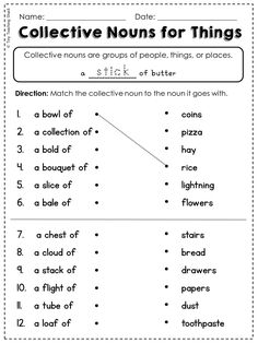 grade 4 collective nouns worksheet south africa - Google Search ...