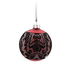 Disney The Haunted Mansion Glass Ball Ornament - Red | Disney StoreThe Haunted Mansion Glass Ball Ornament - Red - Gift-giving ghosts may follow you home from The Haunted Mansion when you hang these ''boo-ti-ful'' glass ball ornaments, inspired by our popular wallpaper pattern, on the family tree.