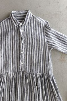 LINEN STRIPE SHIRT DRESS - Other Brand,ONE-PIECE - Veritecoeur(ヴェリテクール)