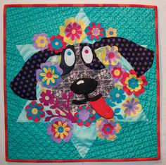 """Wanna Play?"" by V Findlay Wolfe. Quilt Alliance ""Animals We Love"" quilt."