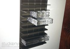 Stampin' Up! - Medium Die Box Insert used for clear acrylic stamp block storage!!!