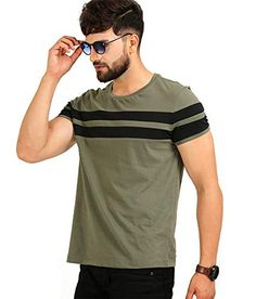 Regular Fit Green Color Casual Round Neck Cotton Wear Boys Comfort Men T-Shirt Mens Half Sleeve, Half Sleeves, Casual T Shirts, Men Casual, Olive Clothing, Cotton Shirts For Men, Camisa Polo, Shirt Style, Shirt Designs