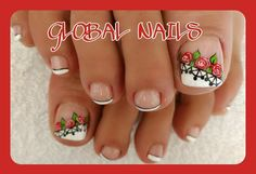 Cute Pedicure Designs, Cute Pedicures, French Pedicure, Toe Nail Designs, Nail Bar, Easy Nail Art, Toe Nails, Diy Beauty, Manicure