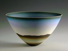 Ceramics by Peter Lane at Studiopottery.co.uk - Mountain Sky - Winter, porcelain.
