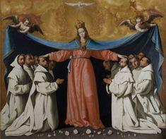 La Virgen de las Cuevas // h. 1655 // ZURBARÁN, Francisco de (Fuente de Cantos, Badajoz, 1598 - Madrid, 1664) // Procedencia: Monasterio de la Cartuja de Santa María de las Cuevas. Sevilla// Museo de Bellas Artes de Sevilla #VirginMary