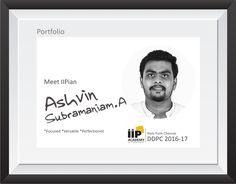 Meet IIPian Ashvin Subramaniam.A| DDPC 2016-17 | Hails From Tamil Nadu *Focused *Versatile *Perfectionist   Connect with Ashvin at www.facebook.com/Ash27Photography Email: ashvin.dada@gmail.com  #portfolio #profile #freelancer #Focused #Versatile #Perfectionist #tamilnadu #delhigram #skill #creativity #tuesdaymotivation #frame #photography #professionals #motivated #photographyislifee #iipedu #iip #iipacademy #indianinstituteofphotography #noida #fashion_photography #studio…