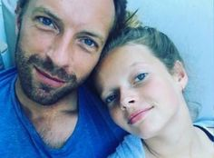 Awwww Chris Martin with his daughter, Apple Martin <3