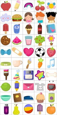 Cute Icons (Online Game) by Subcutaneo Creative Studio, via Behance Preschool Worksheets, Preschool Activities, Homeschool Kindergarten, Very Hungry Caterpillar Printables, School Suplies, Teaching The Alphabet, Coding For Kids, Kids Icon, School Decorations
