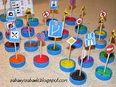znaki drogowe Ulice, Crafts For Kids, Preschool, Children, Techno, Pranks, School, Creativity, Transportation