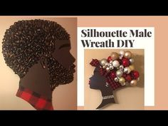 Afrocentric King and Queen Silhouette Wall Art DIY Christmas Wreaths, Christmas Decorations, Wood Decorations, Holiday Decor, Christmas Ideas, African Christmas, Teen Art, King Art, Paper Crafts