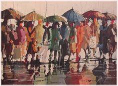 Seattle Rain Scene by local artist Danny Mayes